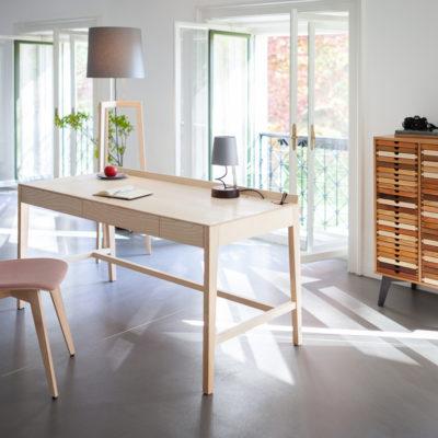 Theo Schreibtisch plus Esche
